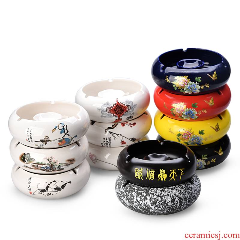 Hui shi ceramic ashtray creative move wind large home office European fashion an ashtray