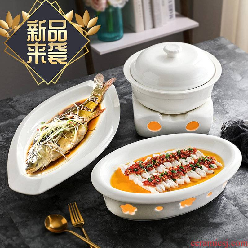 Chinese style hotel ceramic tableware ltd. candles heat insulation may just spend furnace hot pot soup fish 0 on alcohol
