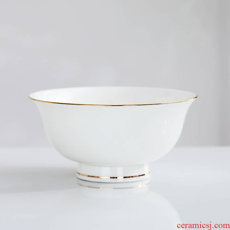 Jingdezhen ceramic rainbow such as bowl bowl home eat rice bowl up phnom penh tall bowl of soup bowl of rice, a bowl of household ceramic bowl prevent hot
