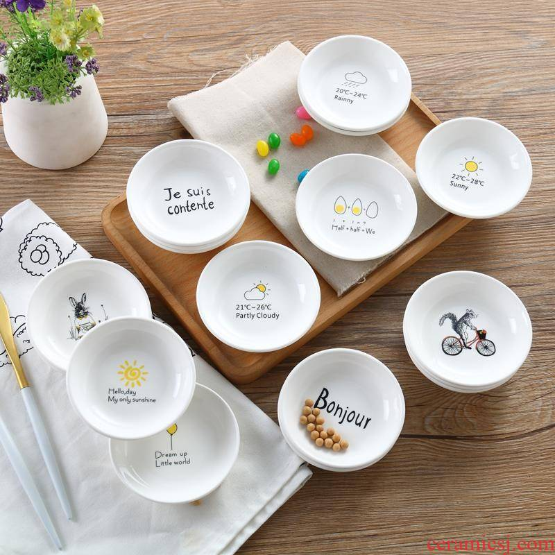 Snacks salon children disc small plate put the new ipads China soy sauce dish of sauce pigment ceramic multi - purpose small plate