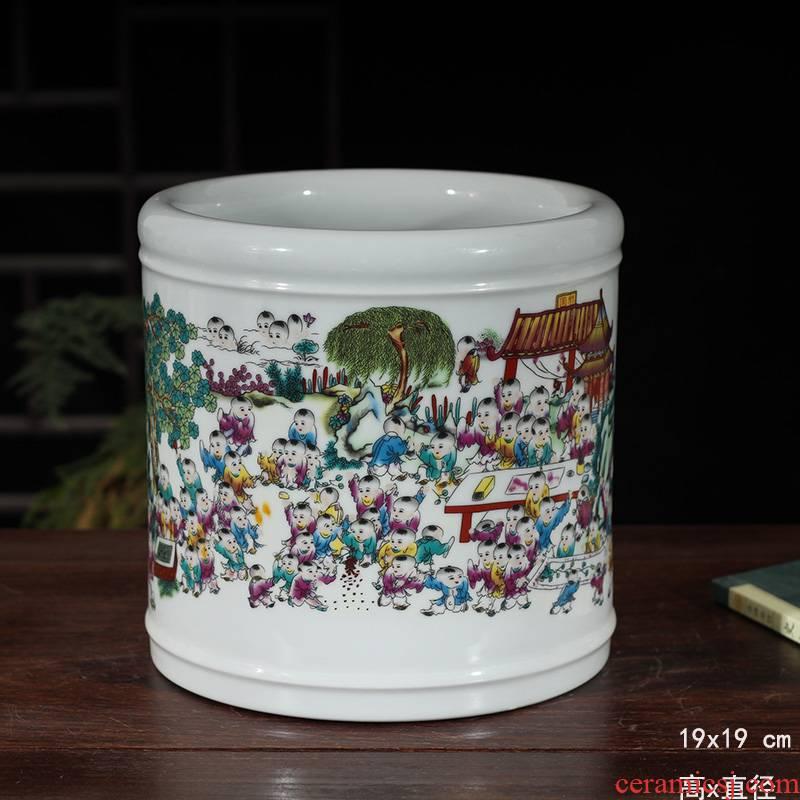 Jingdezhen porcelain the ancient philosophers figure tong qu porcelain vase large shallow porcelain pen fight the ancient philosophers figure powder wariety pen container