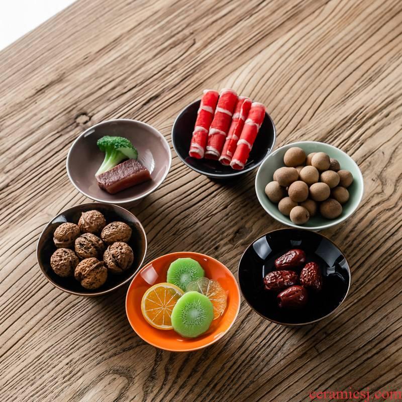 Hui shi Japanese ceramic fruit bowl web celebrity fashion modern creative home sitting room tea table candy basin furnishing articles snacks