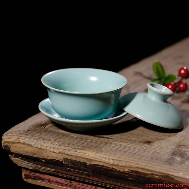 Qiao mu PMZ your up on kung fu tea tureen single ancient ceramic cup three restoring ancient ways to cover cups of tea