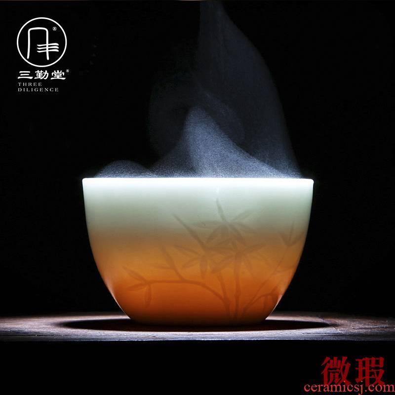 Analyzes three 】 【 all the attendance hall master cup single CPU jingdezhen ceramic sample tea cup kung fu tea cups