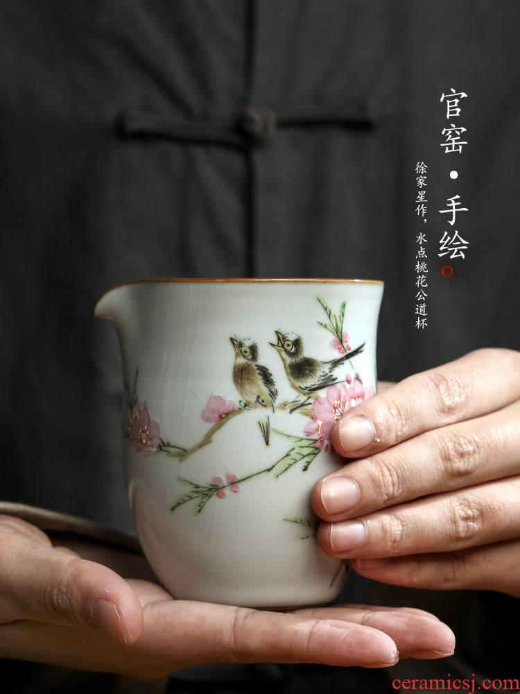 Xu, Jiaxing hand - made peach blossom put water point your up fair can have a cup of tea ware jingdezhen ceramics by hand points to kung fu tea set