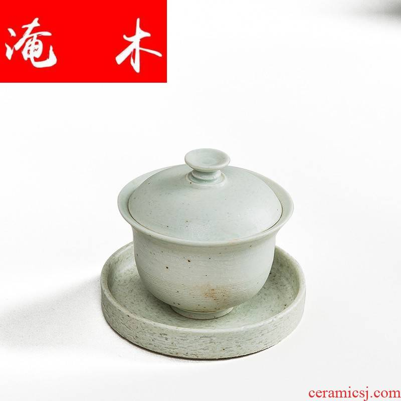 Submerged wood, white pottery only three tureen ceramic large white porcelain tea cups, coarse pottery kung fu tea tea accessories