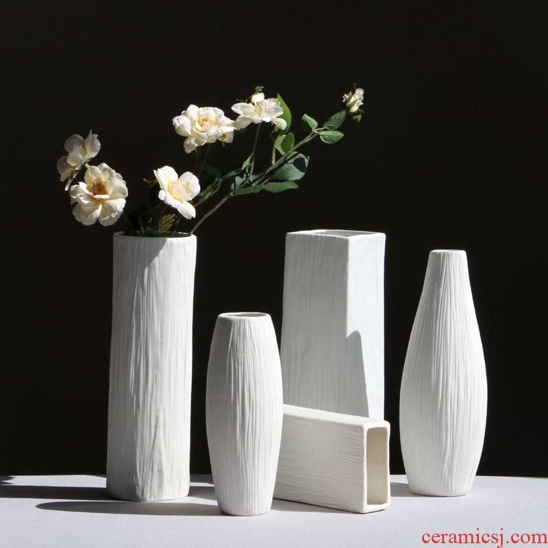 New simple fashion European ceramic vase creative manual pull embryo a fold handicraft furnishing articles
