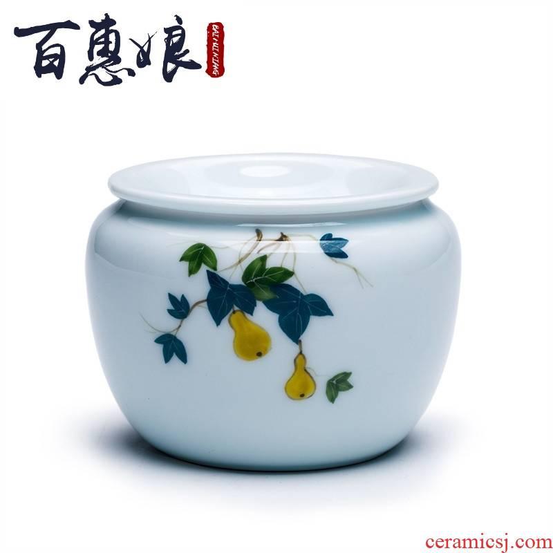 (niang celadon hand - made built water jingdezhen ceramic tea wash in hot water jar kung fu tea tea bucket bucket of dry terms