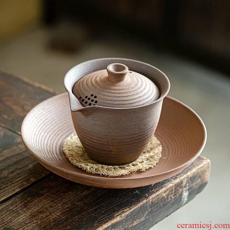 Japanese coarse TaoYan mud hand grasp pot of unglazed teapot tea bearing loofah pet pot pad kung fu tea tureen pot bearing