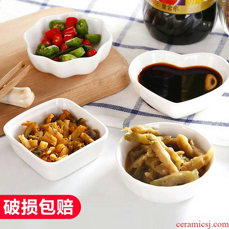 Japanese creative white vinegar sauce ceramic disc kitchen multipurpose sauce seasoning disc hotpot condiment small dishes,