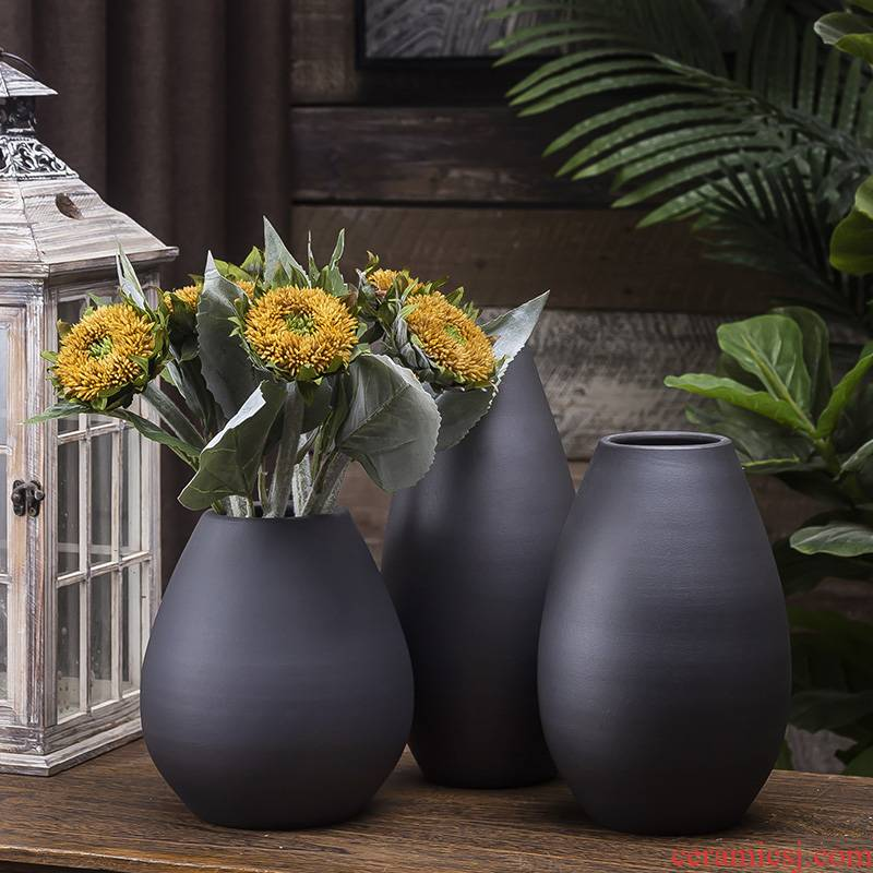 The Northern wind ceramic floret bottle furnishing articles TV ark, the table dry flower flower arranging I and contracted sitting room key-2 luxury decoration