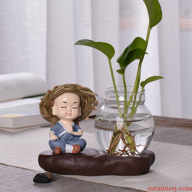 Other creative household adornment glass furnishing articles monk floret is tea flower vases, ceramic water container