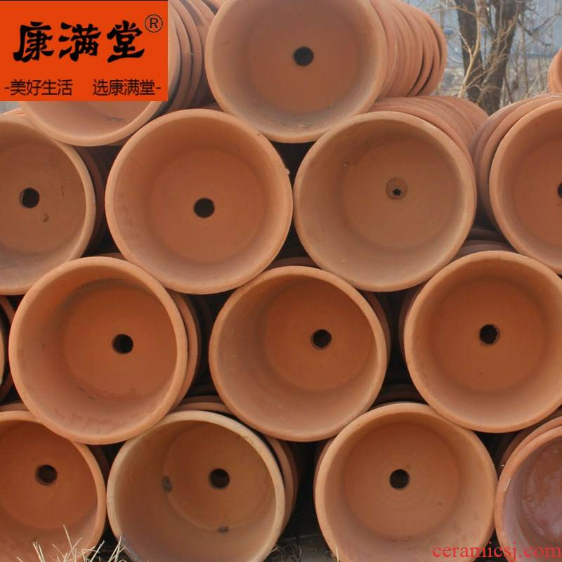 Large vent made of baked clay permeability flowerpot manual coarse pottery mud made of baked clay flowerpots old breathable restoring ancient ways