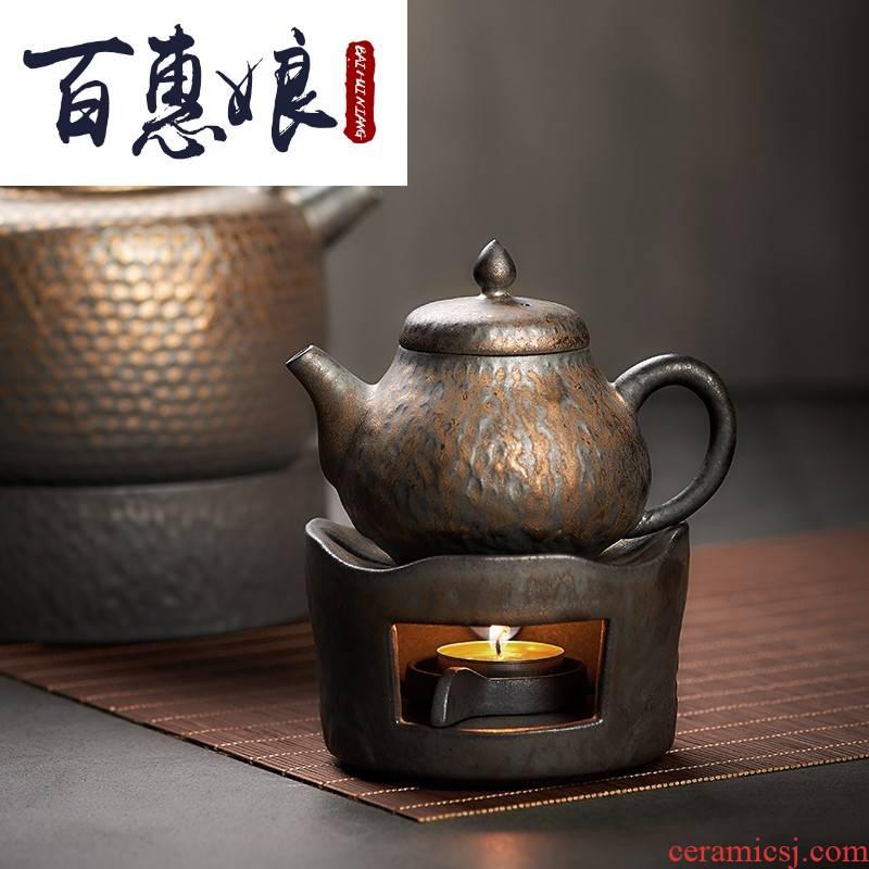 (niang gold boiled tea tea stove furnace temperature ceramic based alcohol furnace, kettle heating insulation base kunfu tea