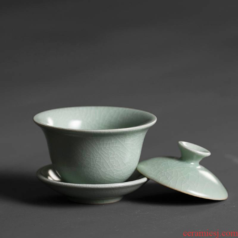 Qiao mu PMZ your up tureen ceramic cups start to raise three use kung fu to restore ancient ways small ice crack glaze