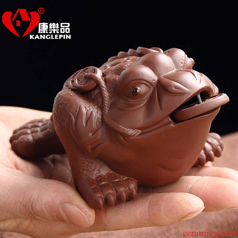 Recreation violet arenaceous the mythical wild animal tea pet furnishing articles beidou spittor hydraulic grab three foot ball tea play decoration fittings of tea tray