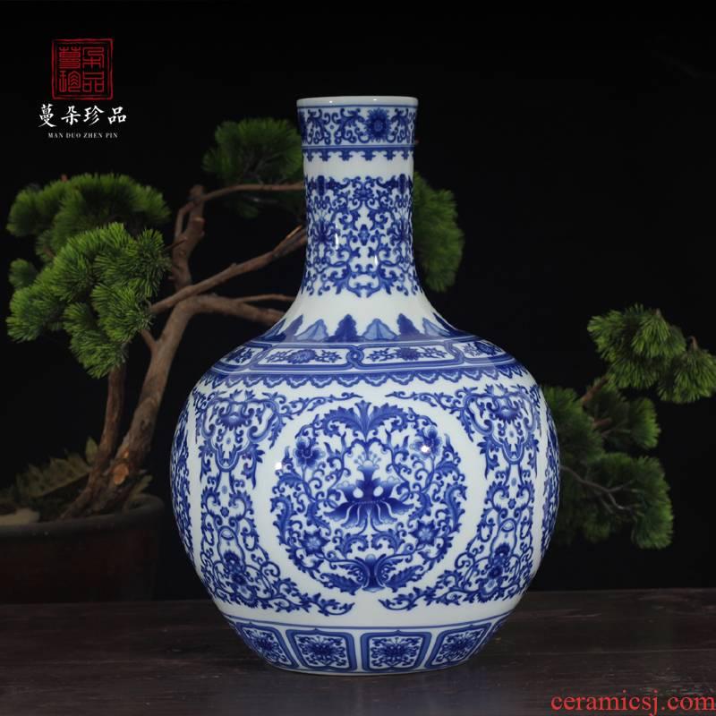 Jingdezhen dragon too celestial Jingdezhen porcelain vase celestial decorative vase red f traditional vase
