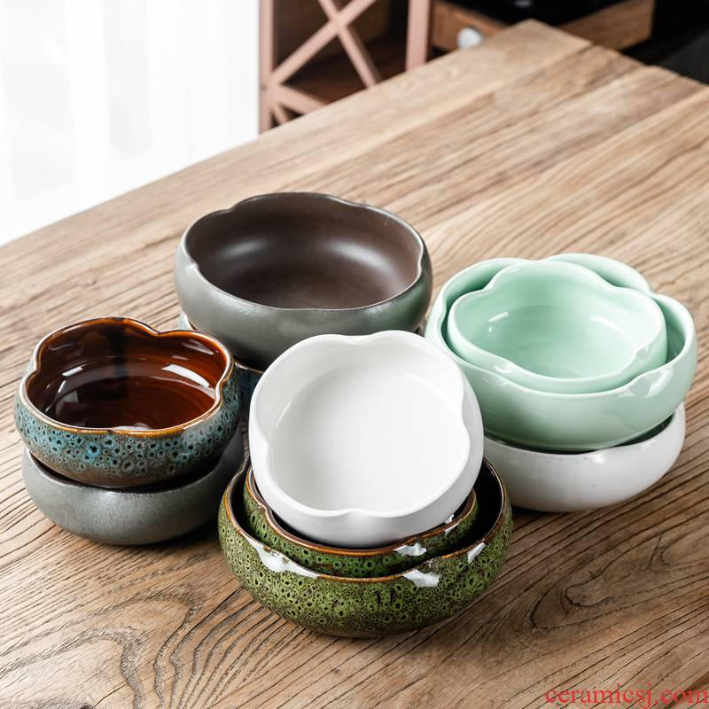 Hui shi tea wash to heavy large household writing brush washer ceramic tea set of blue and white porcelain wash bowl tea zero for wash with a water jar