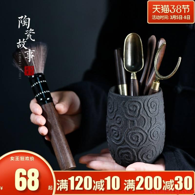 Ceramic tea story 6 ChaGa tea art 6 gentleman gentleman kung fu tea tool set tea service parts books