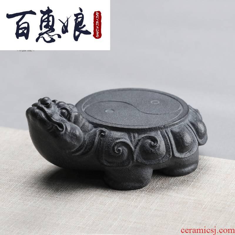 (niang creative stone pot bearing Japanese keep pot dish pot pad pot base dragon turtle dry terms tray of tea accessories