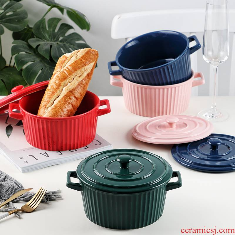 Always with a lid and lovely ears with cover rainbow such use large students rainbow such use ceramic Bowl of soup Bowl such as always