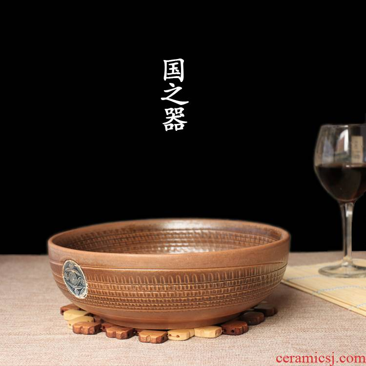 Archaize ceramic creative rainbow such as bowl soup bowl bowl noodles bowl character of boiled fish pickled fish bowl bowl of tableware