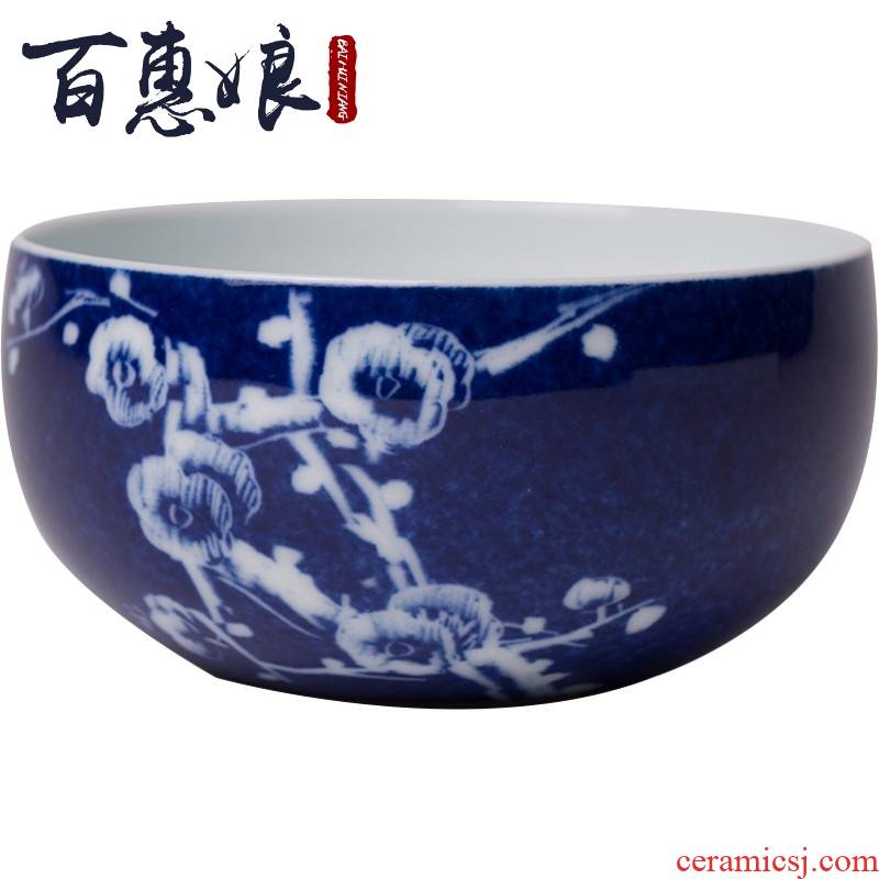 (niang jingdezhen all hand - made with blue glaze hand - cut zen master cup cup sample tea cup cup of restoring ancient ways