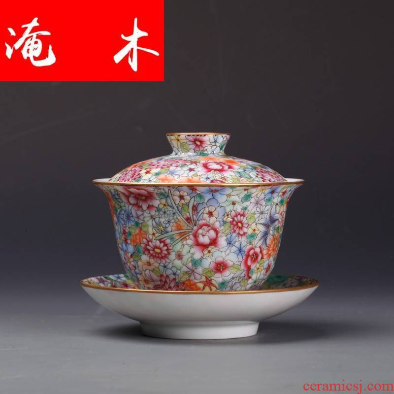 Submerged traditional wooden jingdezhen up up jade white porcelain tureen all hand over pastel pattern maintain tureen ceramic tea