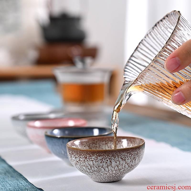 Hui shi retro up built lamp cup retro kung fu master cup single cup tea light sample tea cup ceramic cups