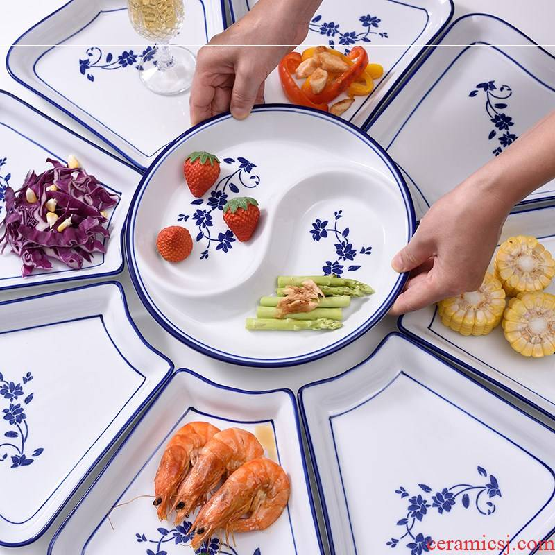 Web celebrity to 0 suit ceramic reunion round the table fan creative household utensils platter