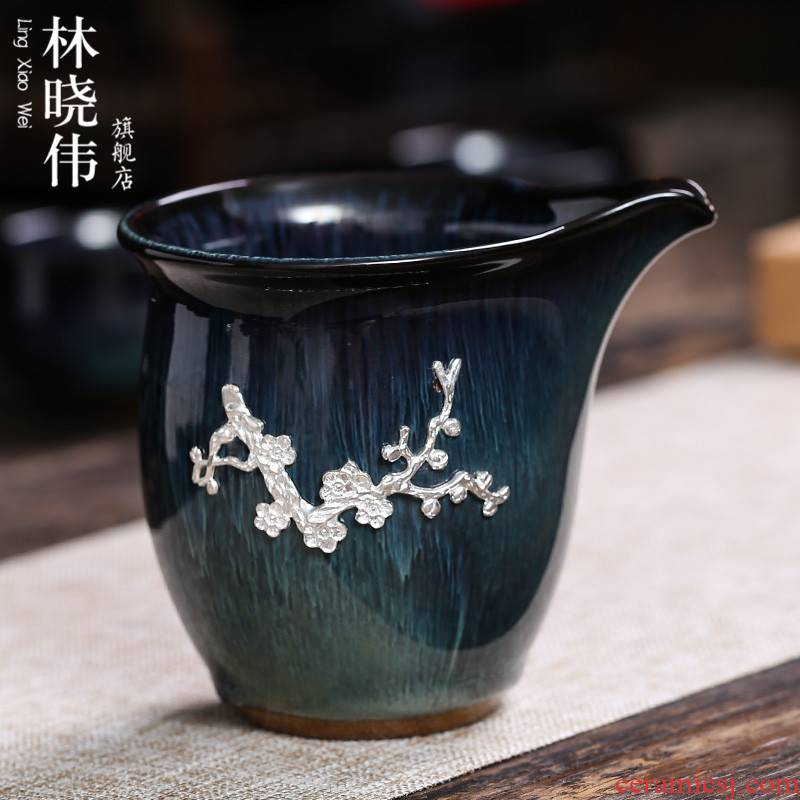Jingdezhen up with large points tea exchanger with the ceramics fair silver cup) suits for well cup kung fu tea accessories
