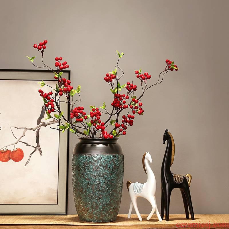 Jingdezhen ceramics vase decoration in modern home sitting room porch TV ark adornment flower arranging flowers, furnishing articles