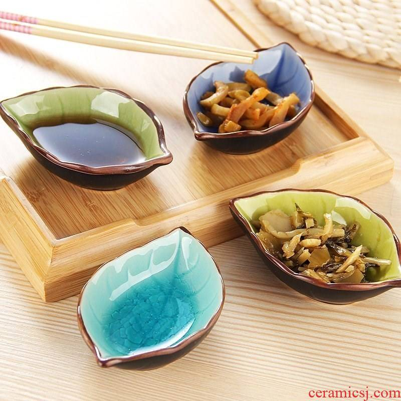 Japanese pickled flavor dish of soy sauce vinegar small ceramic plate mini creative household dip bowl touch water snack plate