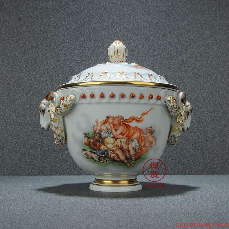 German mason MEISSEN porcelain tureen handicraft limited works newest Europa party