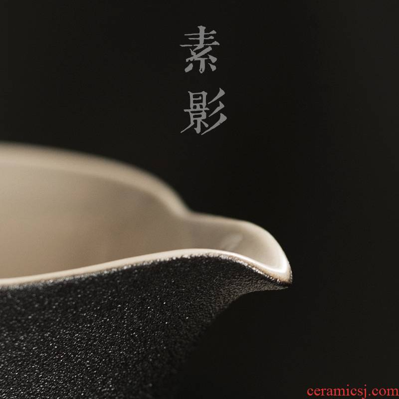 Qiao mu zen with coarse ceramic fair keller of tea haiphong hot cup black kung fu tea set manually zen