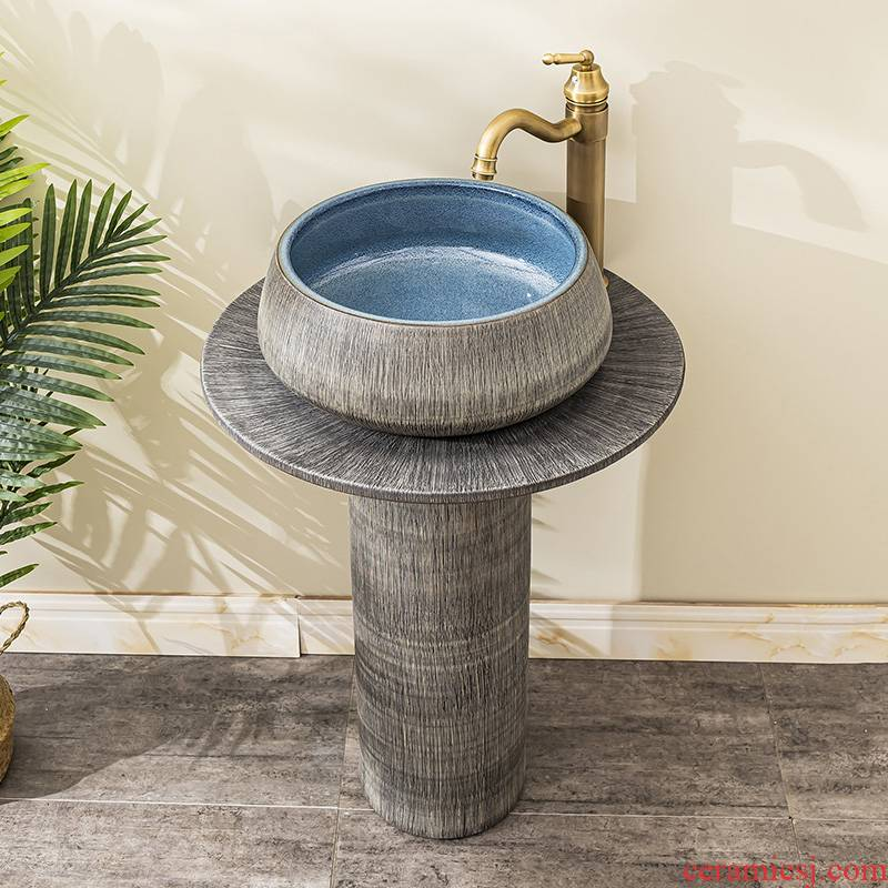 Floor pillar lavabo toilet ceramic lavatory basin balcony is suing the home a whole basin of 13