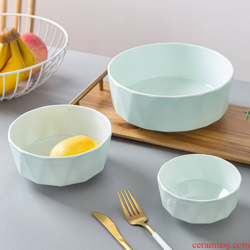 Anise household north European ceramic bowl of beef noodles in soup bowl creative celadon bowls available microwave green glaze ipads porcelain bowl