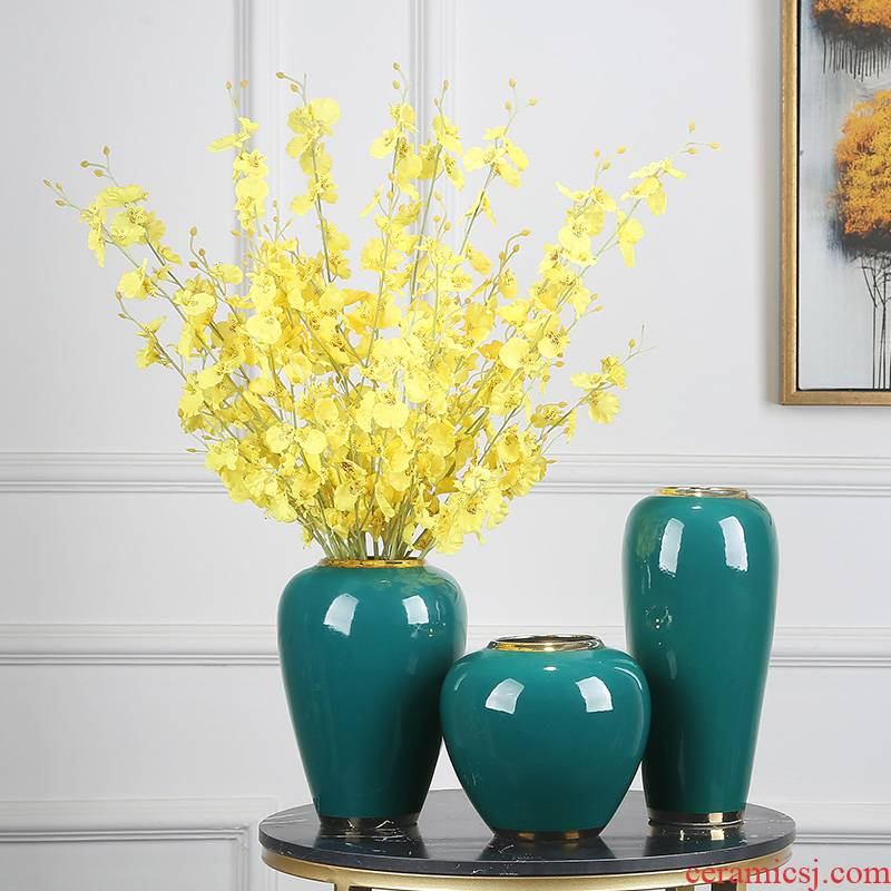 Jingdezhen ceramics vase modern home furnishing articles suit porch TV ark type table decoration decoration