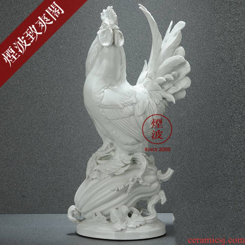 German mason animal MEISSEN porcelain porcelain gallic rooster handicraft furnishing articles that occupy the home act the role ofing is tasted