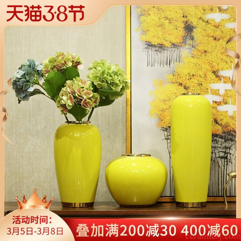 Postmodern new Chinese style ceramic vase furnishing articles dried flower arranging flowers sitting room TV ark, I and contracted household decorations