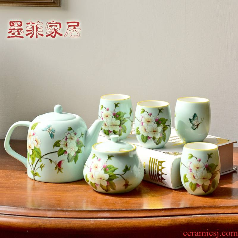 American sitting room tea table furnishing articles creative ipads China tea sets of new Chinese style table decoration version into gift set