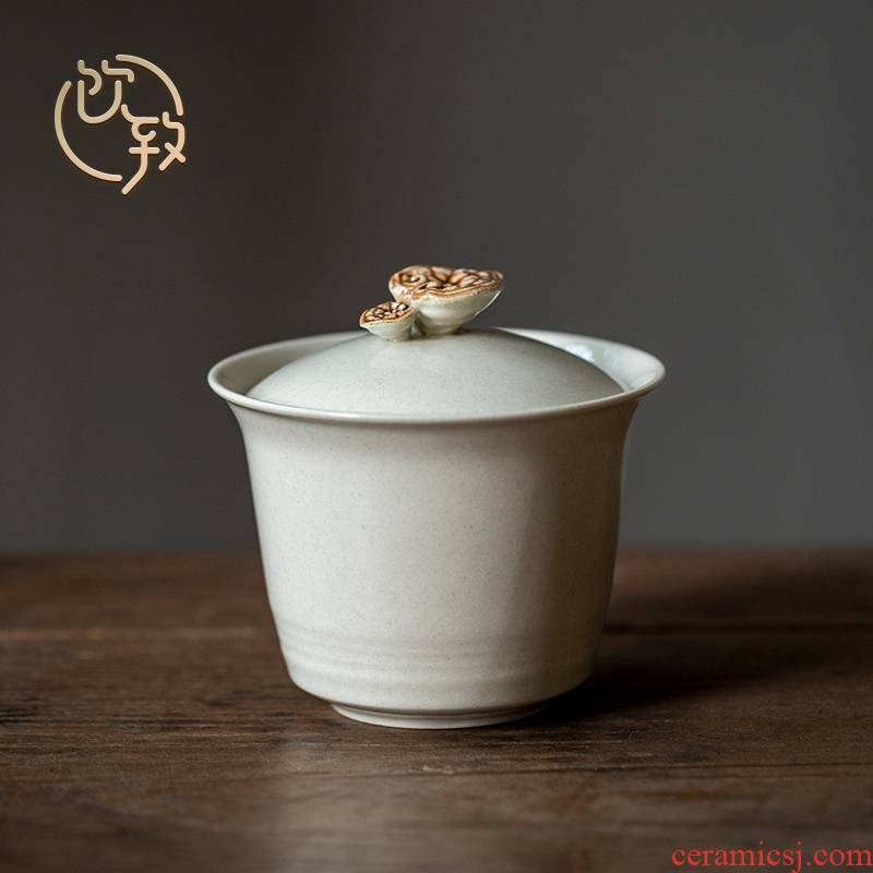 Ultimately responds to the ceramic bowl is not hot tureen household manual single kung fu tea set cup small creative three cups