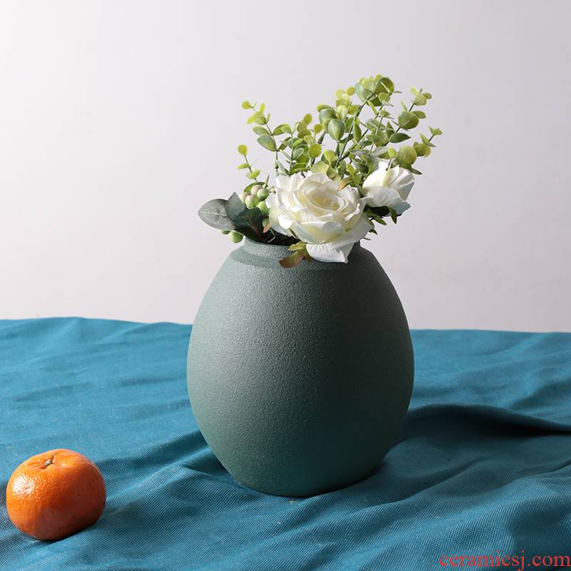 Ceramic floret bottle of I and contracted Europe type restoring ancient ways embellish the sitting room porch place TV ark, the table dry place