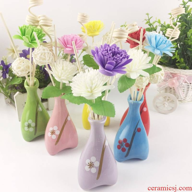No fire aromatherapy oil cane to suit a bedroom furnishing articles name plum color ceramic incense buner bedroom toilet deodorization incense