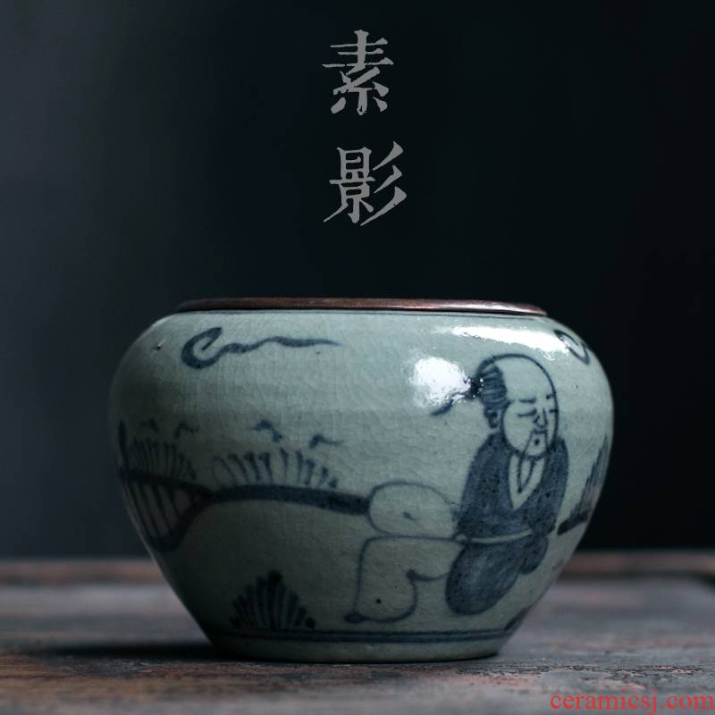 Qiao mu small tea table surface dross barrels of crude TaoJianShui restoring ancient ways your up water meng copper cover dry tea accessories