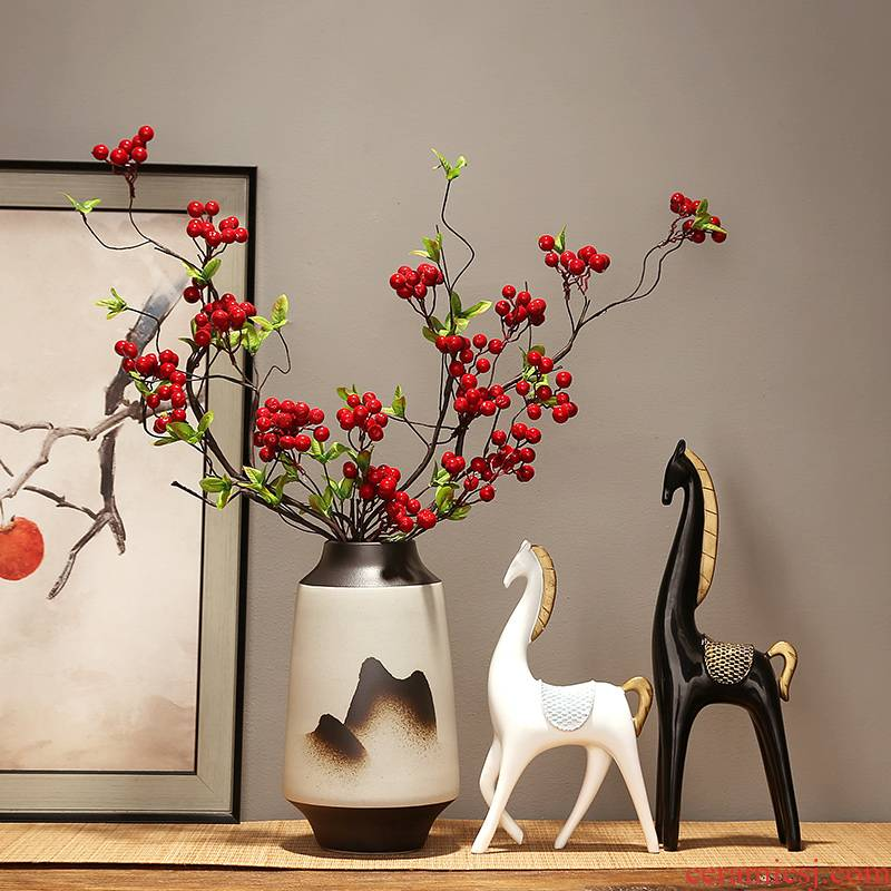 The New Chinese jingdezhen ceramic vases, modern home sitting room porch TV ark adornment flower arranging flowers, furnishing articles