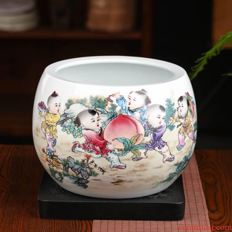 The year of The ox cornucopia in plutus furnishing articles money sitting room home study porch flowerpot aquarium I ceramics handicraft