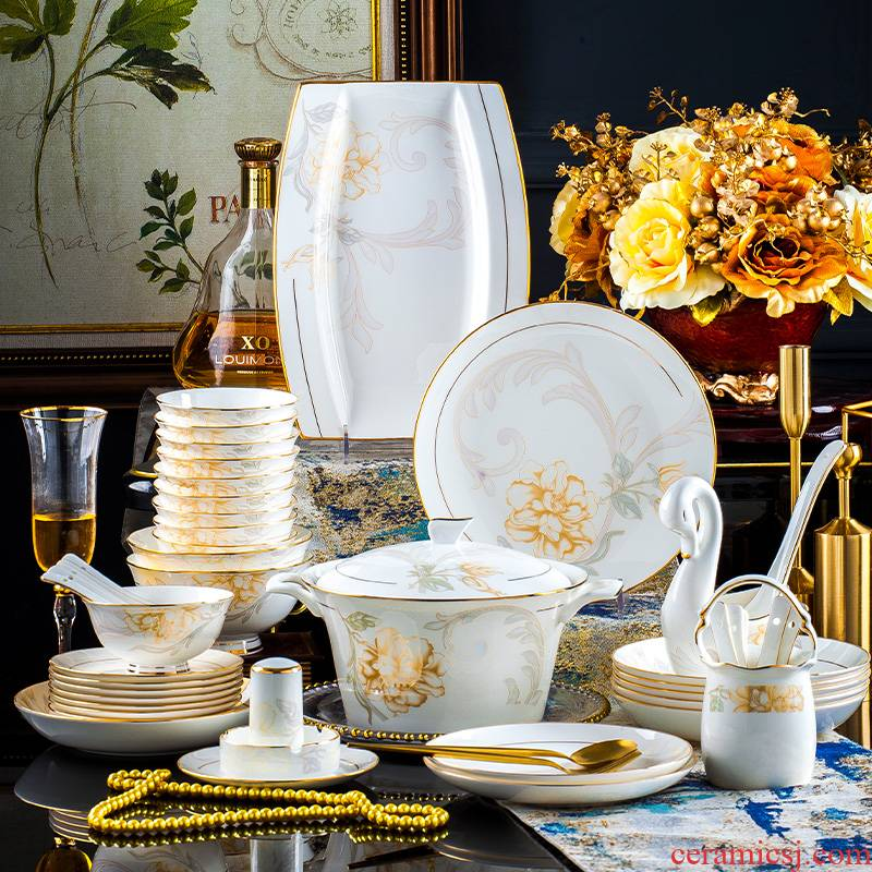 See Colour frontier hot dishes suit household European contracted ipads bowls disc of jingdezhen ceramic plate tableware portfolio