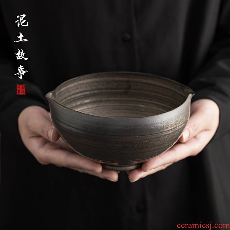 Japanese style restoring ancient ways rust glaze tea wash your ceramic cup thick TaoJian water meng home dross barrels of kung fu tea accessories