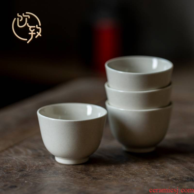 Ultimately responds to plant ash glaze ceramic cups sample tea cup kung fu tea tea cup household single CPU personal cup master CPU